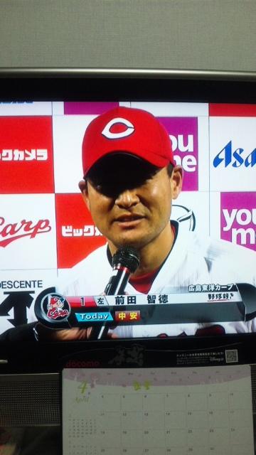前田ヒーローインタビュー