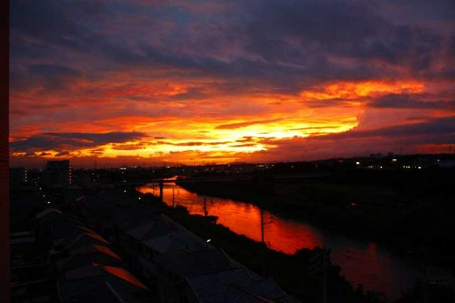 本日(昨日の)夕陽