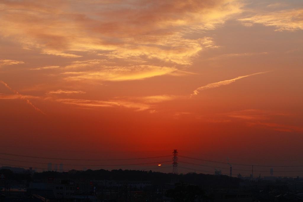 日没を眺めながら