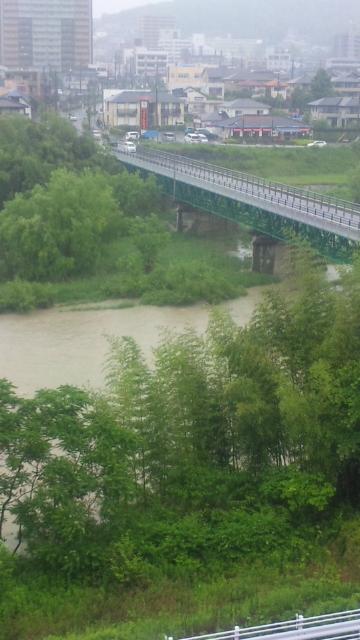 庄内川増水中