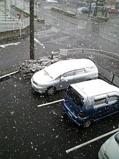 名古屋は雪